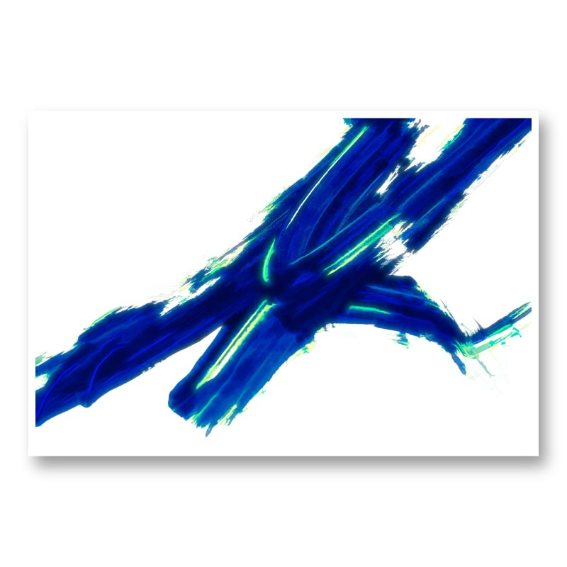Blue Stroke Abstract Wall Art