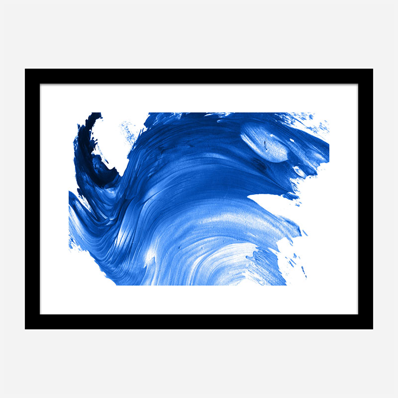 Blue Swirl Abstract Wall Art