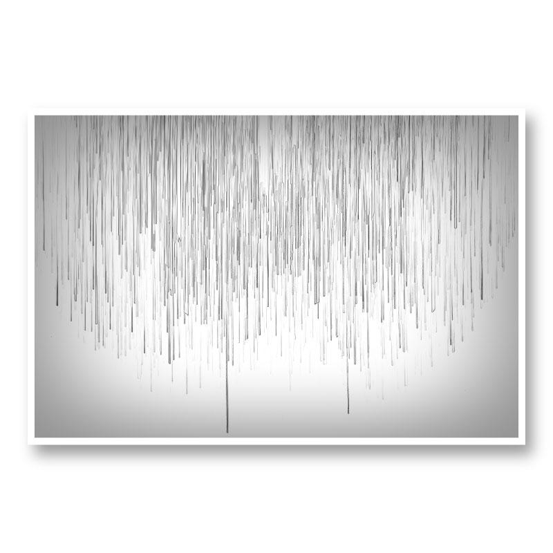 Grey Rain Abstract Wall Art