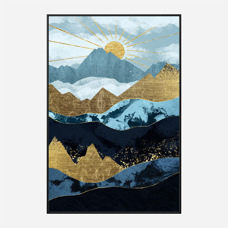 Sun Up Abstract Art Print