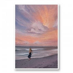 Beach Walk Abstract Art Print