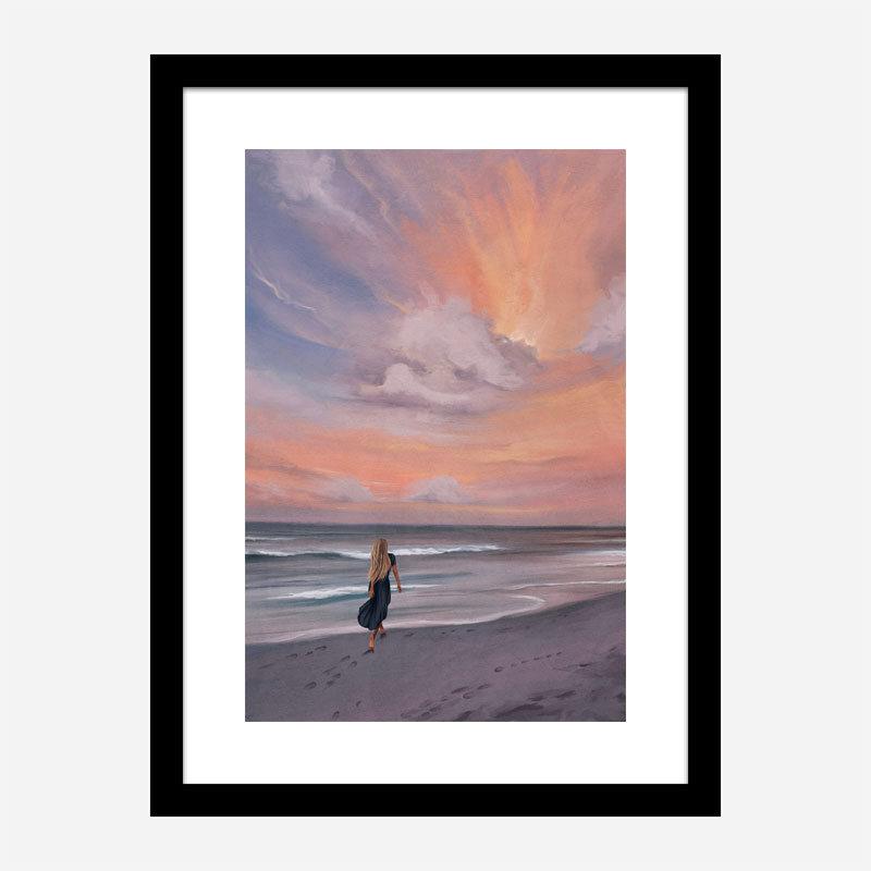 Beach Walk Abstract Art Print
