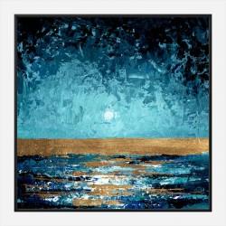 Blue Sunset Abstract Art Print