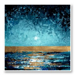 Blue Sunset Abstract Art Print