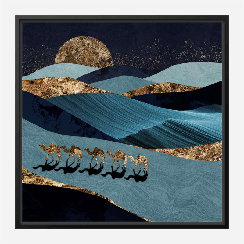 Sahara Abstract Art Print