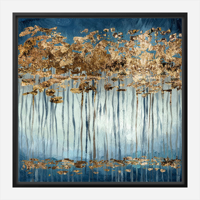 Golden Trees Abstract Art Print
