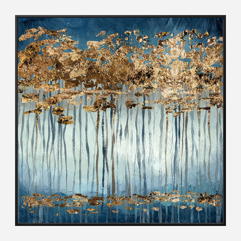 Golden Trees Abstract Art Print