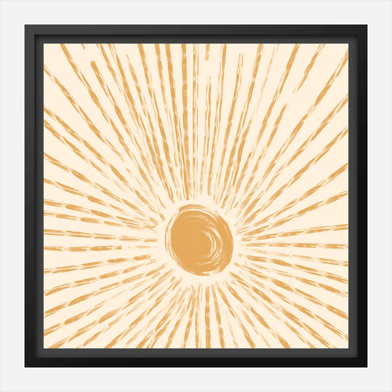 Sun Rise Abstract Art Print