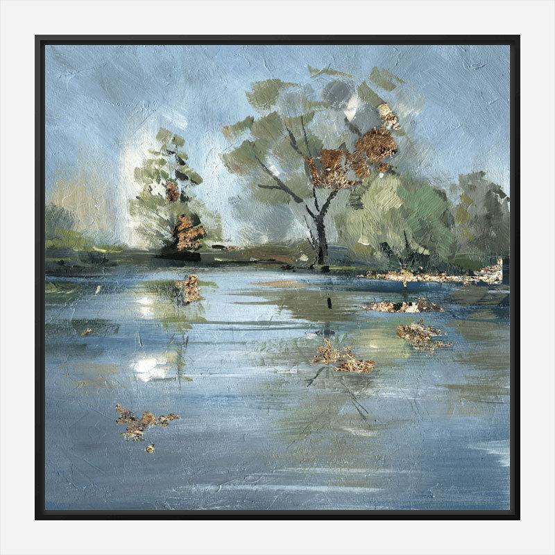 River Abstract Art Print