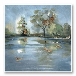 River Abstract Art Print