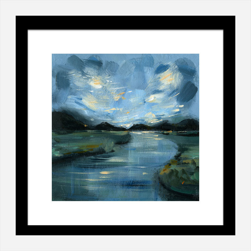 Night River Abstract Art Print