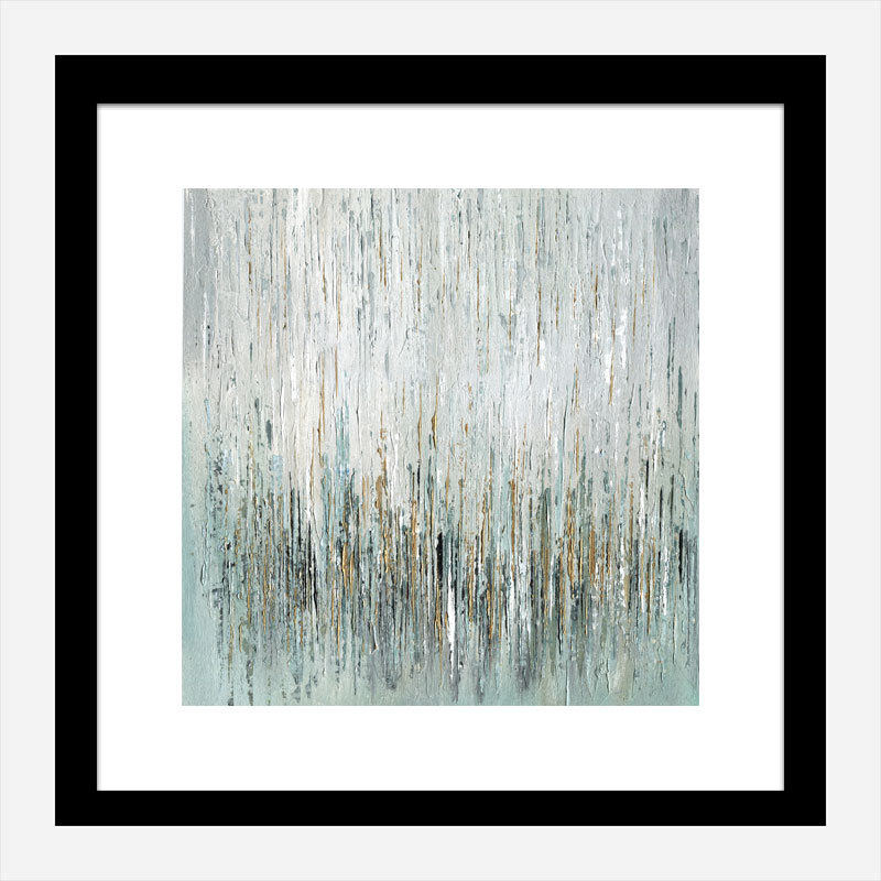 Gold Rain Abstract Art Print