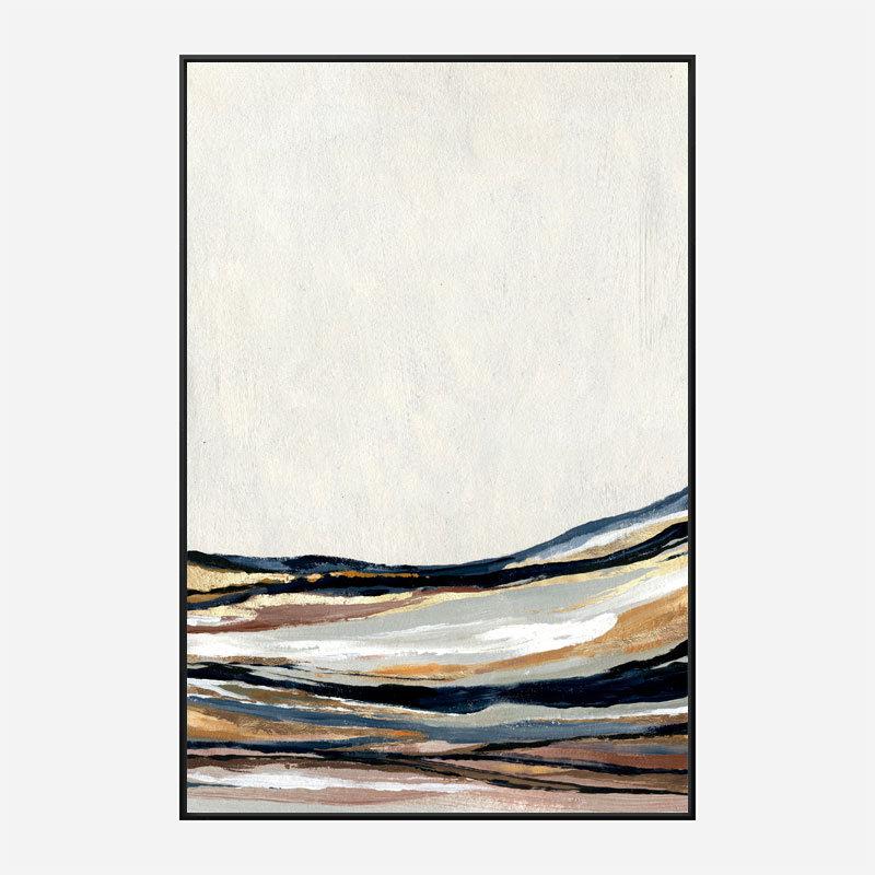 Golden Hills Abstract Art Print