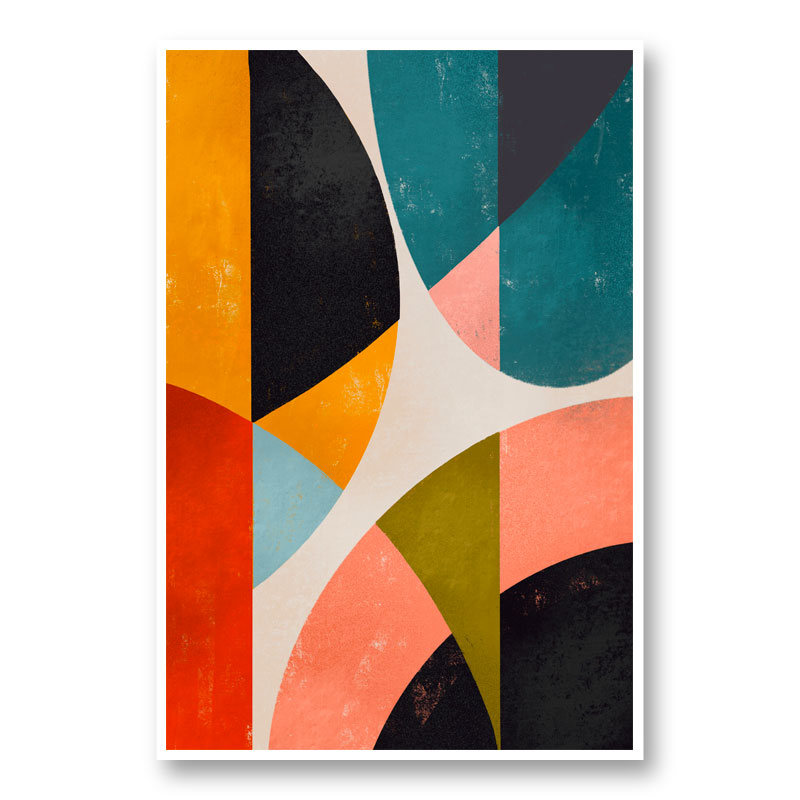 Split Circles Art Print