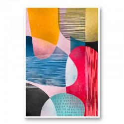 Circle Lines Art Print