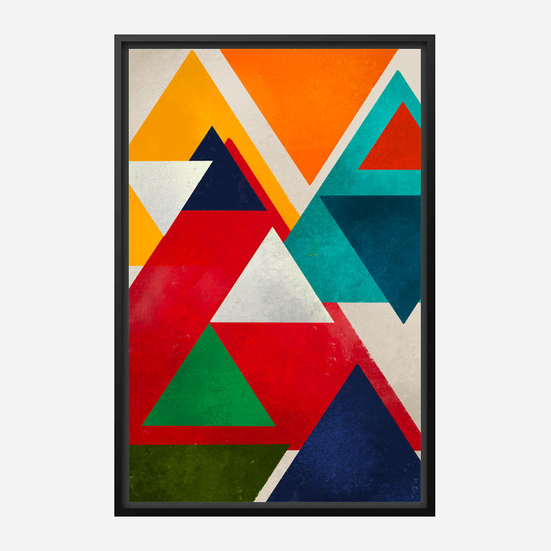 Triangles Abstract Art Print