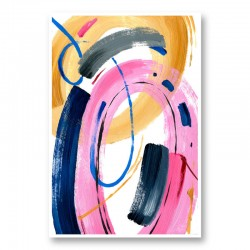 Color Circles Abstract Art Print