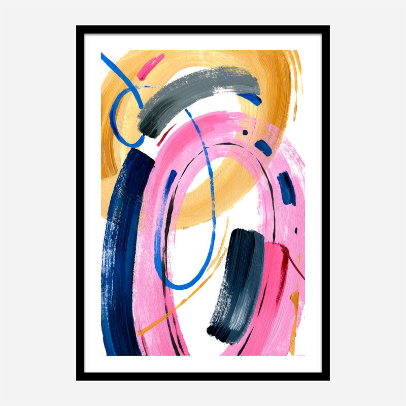 Color Circles Abstract Art Print