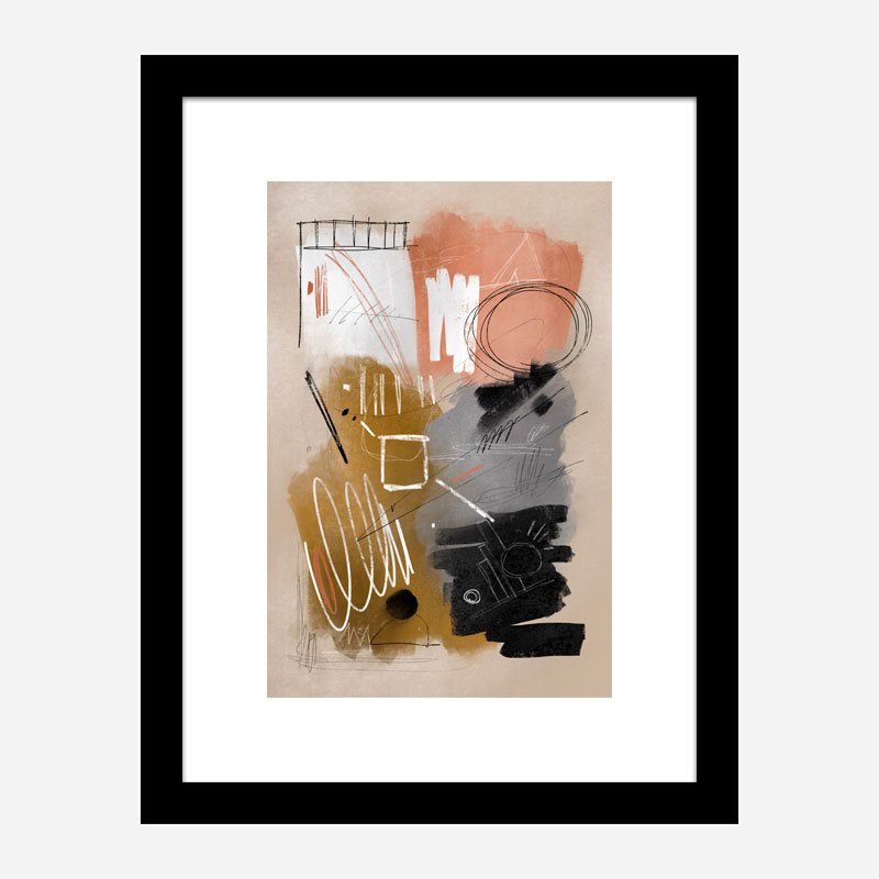 Chaotic Lines Abstract Art Print