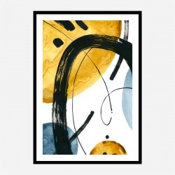 Black Eclipse Abstract Art Print