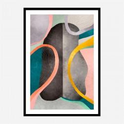 Asymmetric Ellipse Abstract Art Print