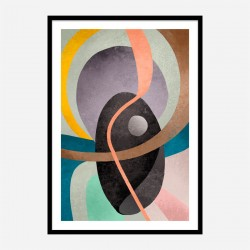 Around the Lines Abstract Art Print