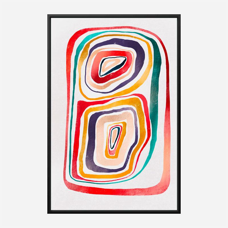 Rainbow Abstract Art Print