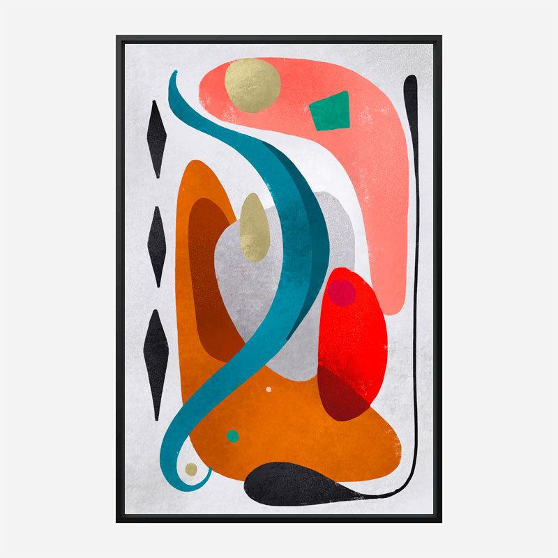 Rhombuses Abstract Art Print