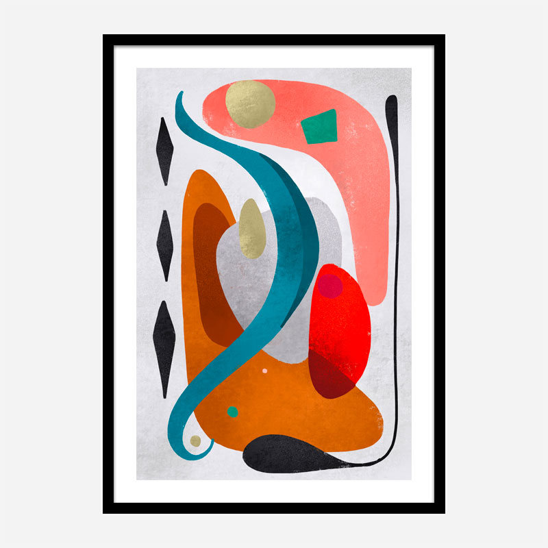 Rhombuses Abstract Art Print