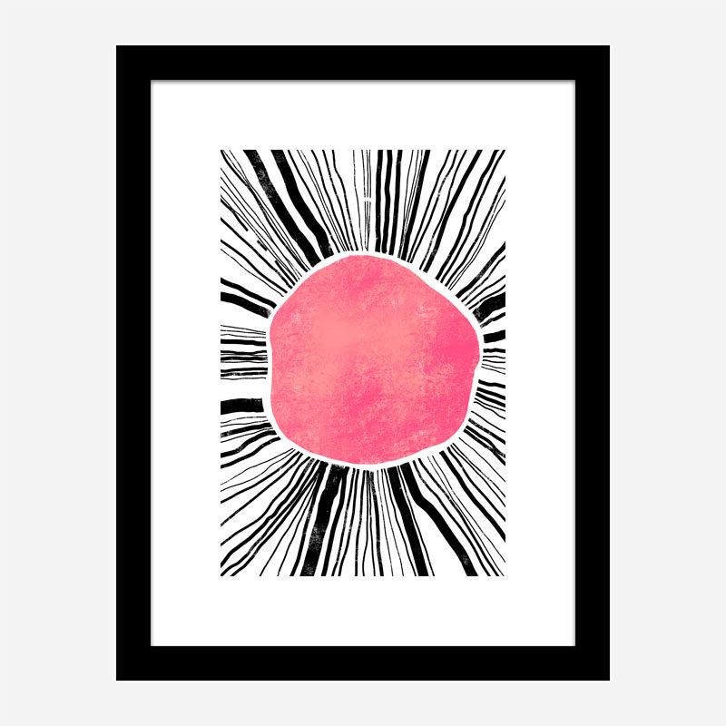 Pink Circle Abstract Art Print
