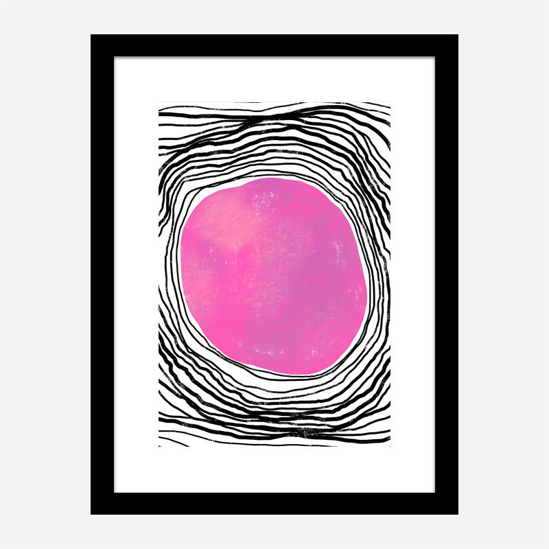 Purple Circle Abstract Art Print