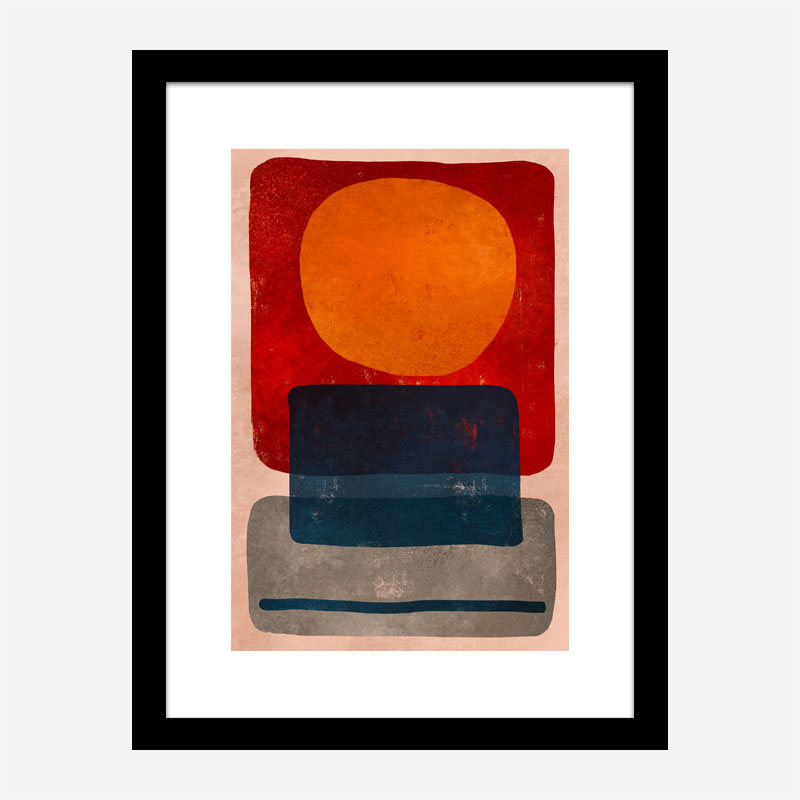 Squares Abstract Art Print