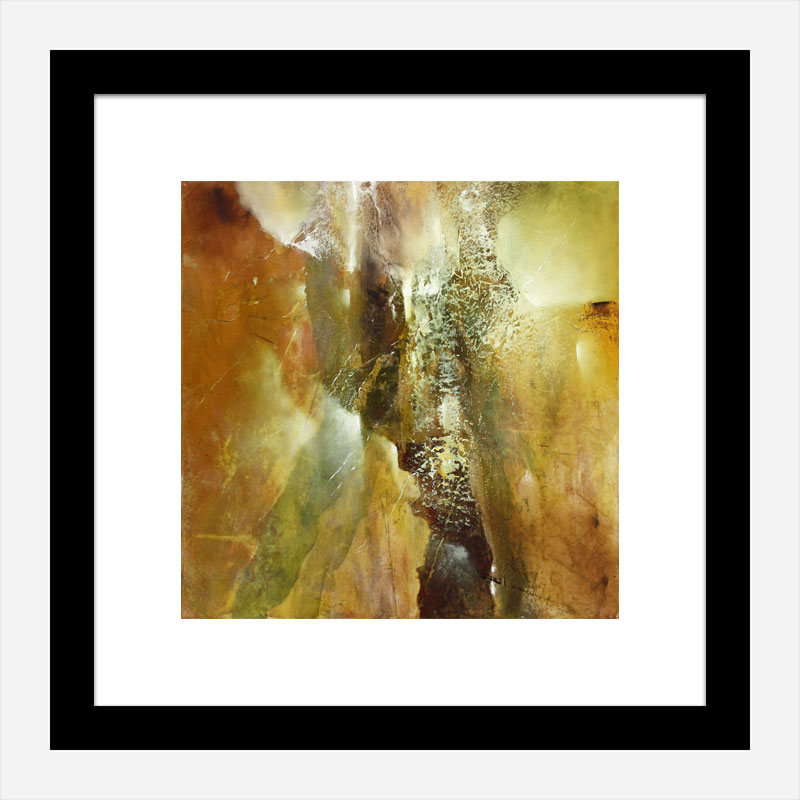 Golden Abstract Composition Art Print