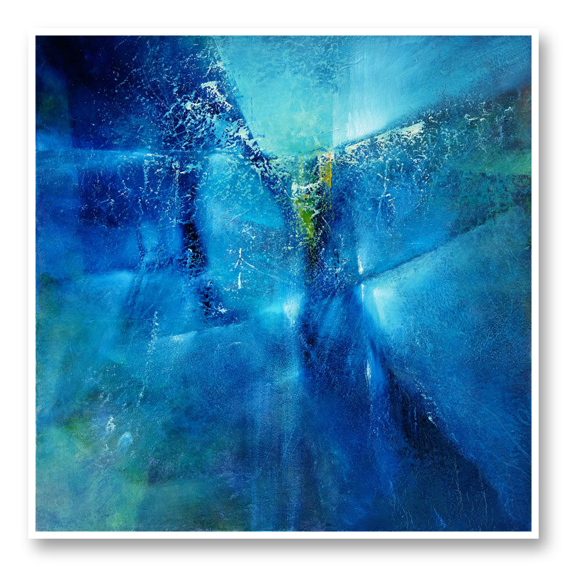 I Dreamed I Was Flying Blue Abstract Art Print