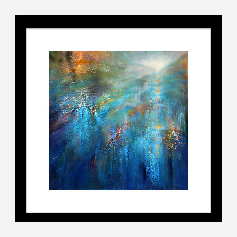 Another Blue Morning Abstract Art Print