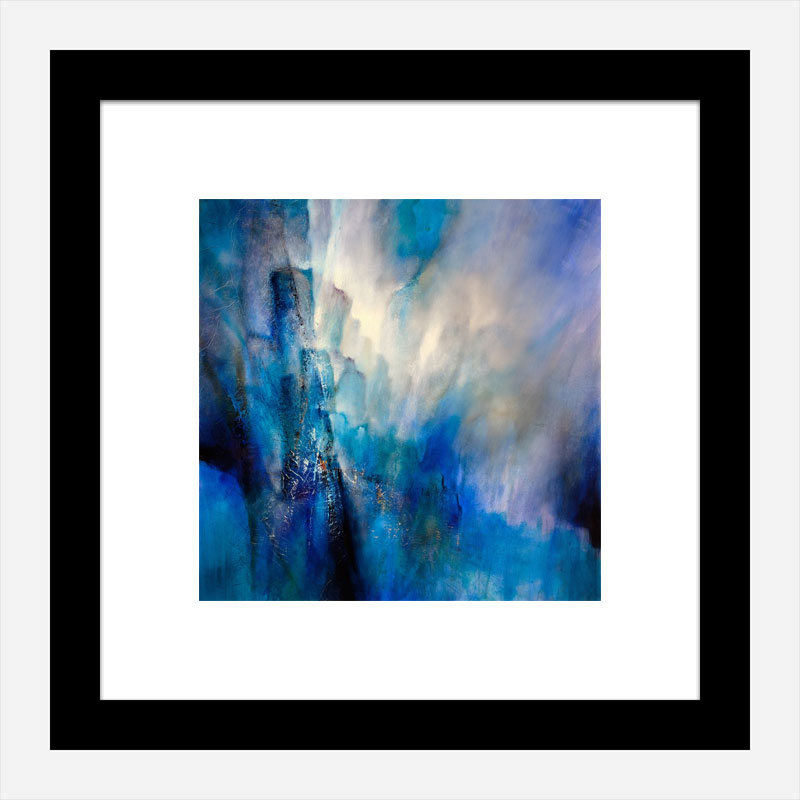 Blue Light Abstract Art Print