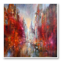 Cathedral City Abstract Art Print