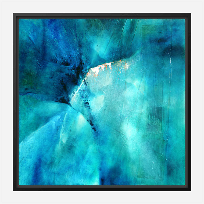 Composition In Turquoise Abstract Art Print