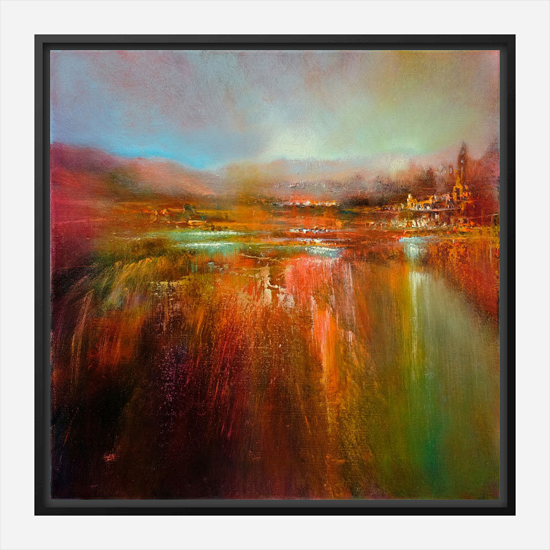 Down by The River Abstract Art Print