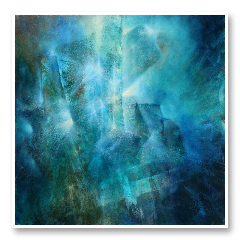 Emerald Abstract Art Print