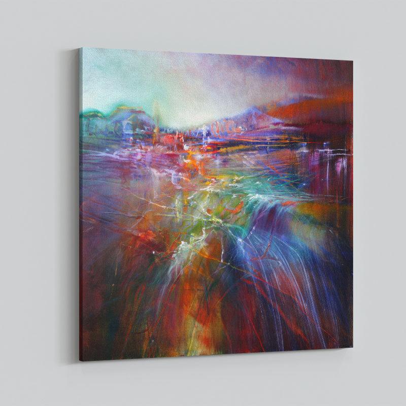 Evening Shine Abstract Art Print