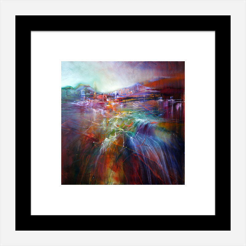 Evening Shine Abstract Art Print