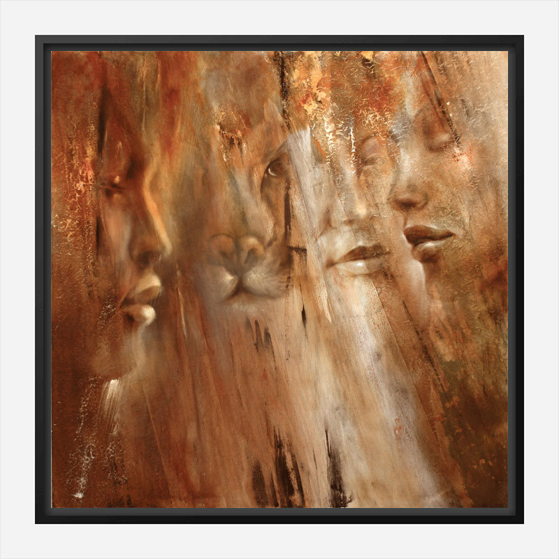 Faces Abstract Art Print