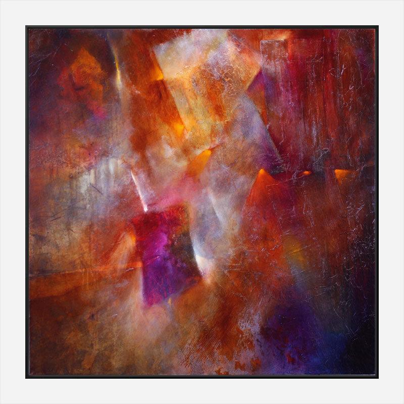 Fireplace Abstract Art Print