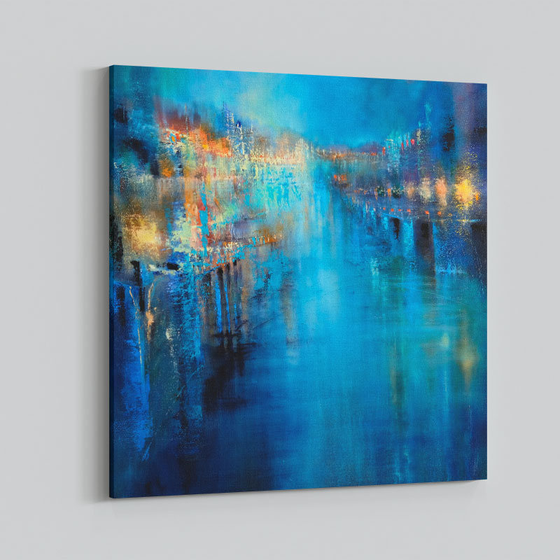 Flood of Lights Abstract Art Print