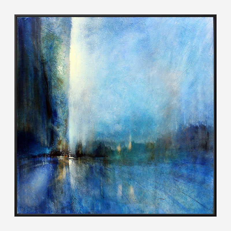 Blue Horizons Abstract Art Print