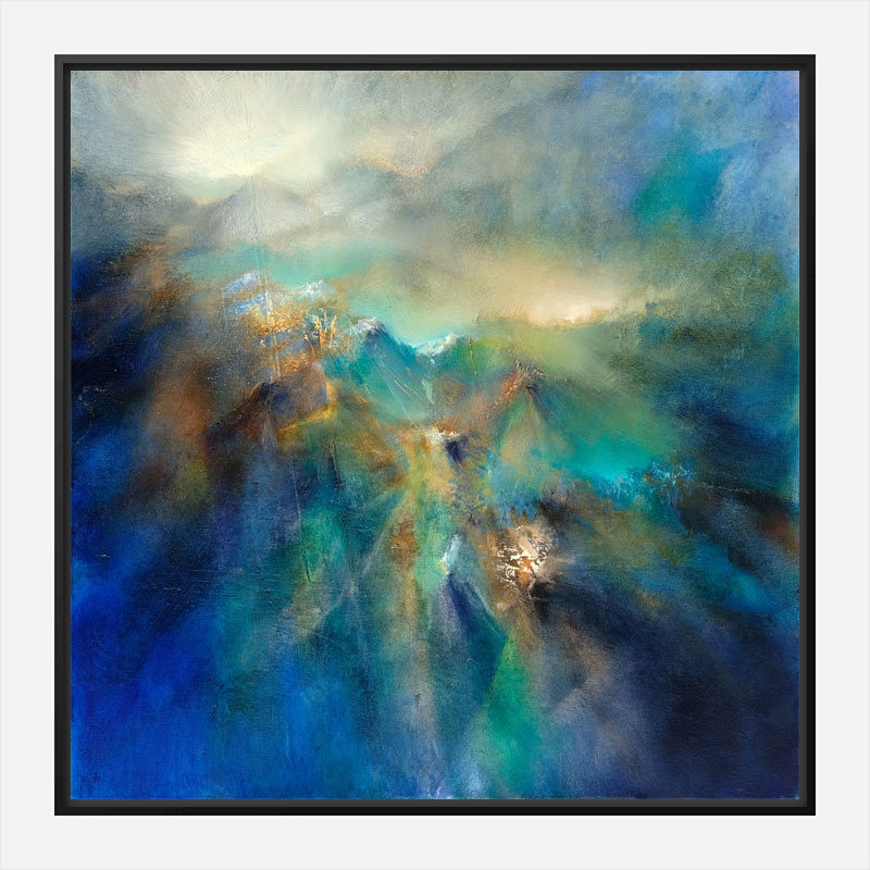 Over All Peaks Abstract Art Print