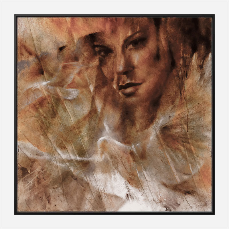 Taube Moewe and Jana Abstract Art Print