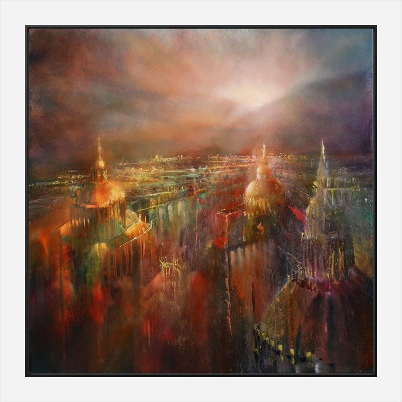 The City is Awakening Abstract Art Print