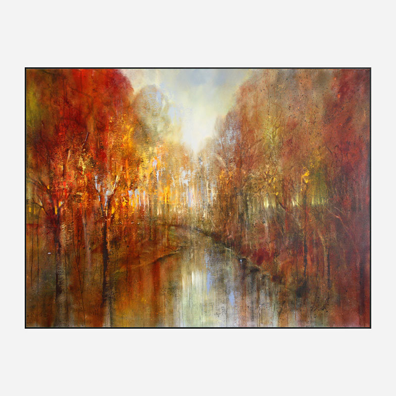 Forests Will Echo with Laughter Abstract Art Print